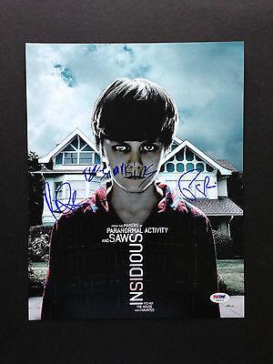 Insidious Cast 3 Signed 11x14 Photo Ty Simpkins Rose Byrne Patrick Wilson Psa Ebay