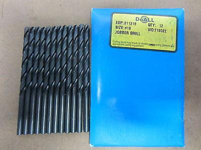 135° Split Point Black Oxide 10-Pack TWILL #41 Jobber Length HSS Twist Drills