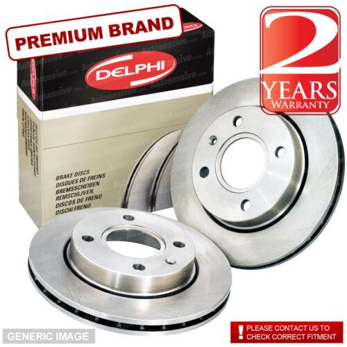 Front Delphi Brake Discs 320mm Vented Pair Set Fits Jaguar S-Type R 4.2 V8