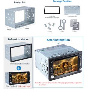Jaula-de-montaje-2-DIN-Metal-Fascia-Dash-Kit-para-instalacion-Stereo-Auto-Radio-DVD