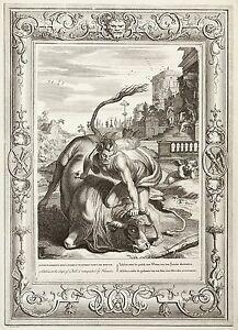 Kupferstich-von-Bernard-Picart-18-Jh-antike-Mythologie-Herkules-und-Acheloos