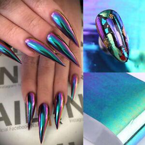 4-100cm-Chameleon-Nail-Foils-Nail-Art-Transfer-Stickers-UV-Gel-Nail-Art-Decal-UK