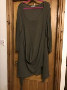 New-Womens-Dress-Loose-Ladies-Oversize-Hem-Can-Be-Twisted-And-Knotted-New