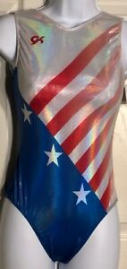 GK-AMERICAN-DREAM-ADULT-X-SMALL-STARS-STRIPES-1984-GYMNASTICS-TANK-LEOTARD-AXS