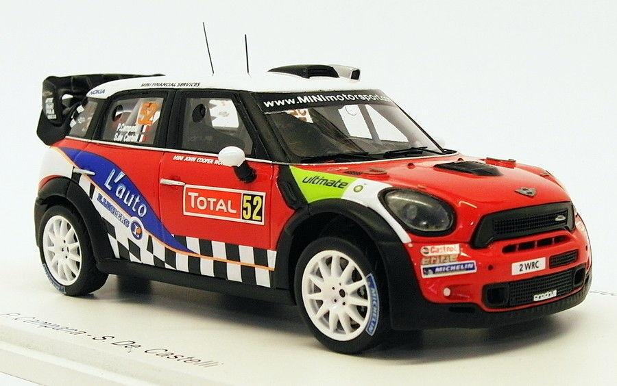 Spark 1 43 Scale S3350 - Mini John Cooper Works  52 - WRC Monte Carlo 2012