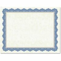 Geographics Traditional Certificates 8-1/2x11 15sh/pk Blue 47849