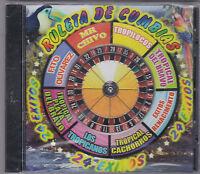 Ruleta De Cumbias-24 Exitos-various Artist-tejano Texmex Latin Cd Sealed (58)