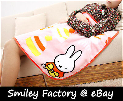 Hot New Bunny Miffy Rabbit Plush Cute Air condition Blanket Coral Fleece Blanket