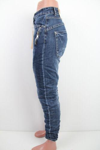 Damen Jeans Hose Baggy Übergröße 38-48 Reißverschluss Zip Zipper //Karostar //K751