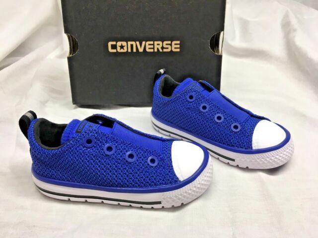 6b608f5720eba9 CONVERSE CHUCK TAYLOR 759982C Hyperslip Ox Blue Slip on Sneakers Shoes  Boy s 7 T