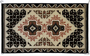 Navajo-Rug-Early-20th-Century-great-Condition-Tight-Weaving-60-034-x-36-034