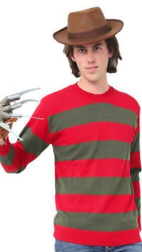 Da Uomo Freddy Rosso e Verde a Righe A Maglia Cappello Explorer mano Artiglio Guanti per adulti