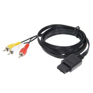 N64-SNES-Gamecube-6FT-RCA-AV-TV-Audio-Video-Stereo-Cable-Cord-For-Nintendo-64