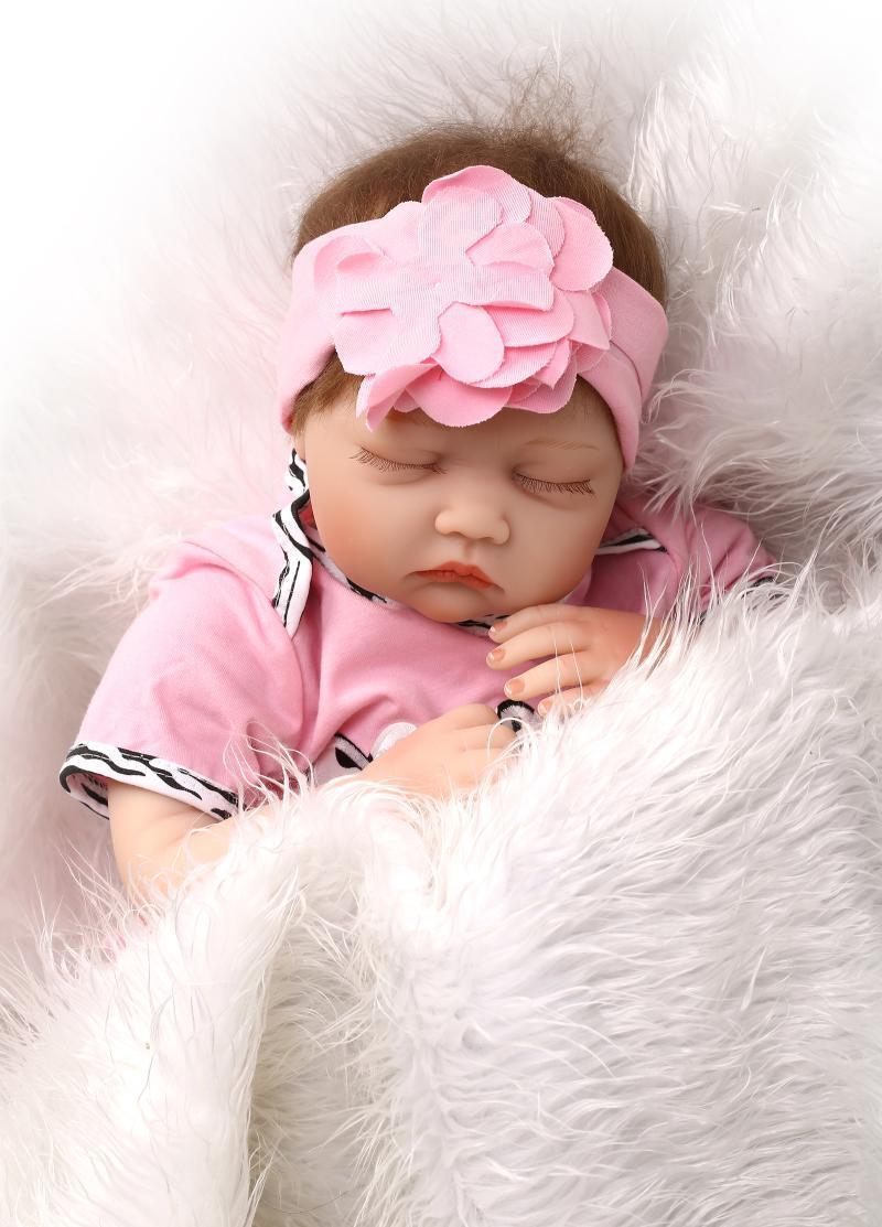 Muñeca Bebé Reborn de dormir 55cm 22in Vinilo Suave Silicona navidad regalo regalo de cumpleaños