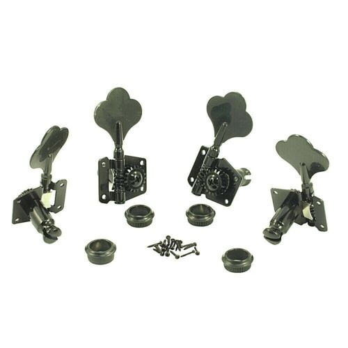 WD MUSIC WD9LB 4 INLINE FULL SIZE BASS TUNING MACHINES RIGHT HAND BLACK