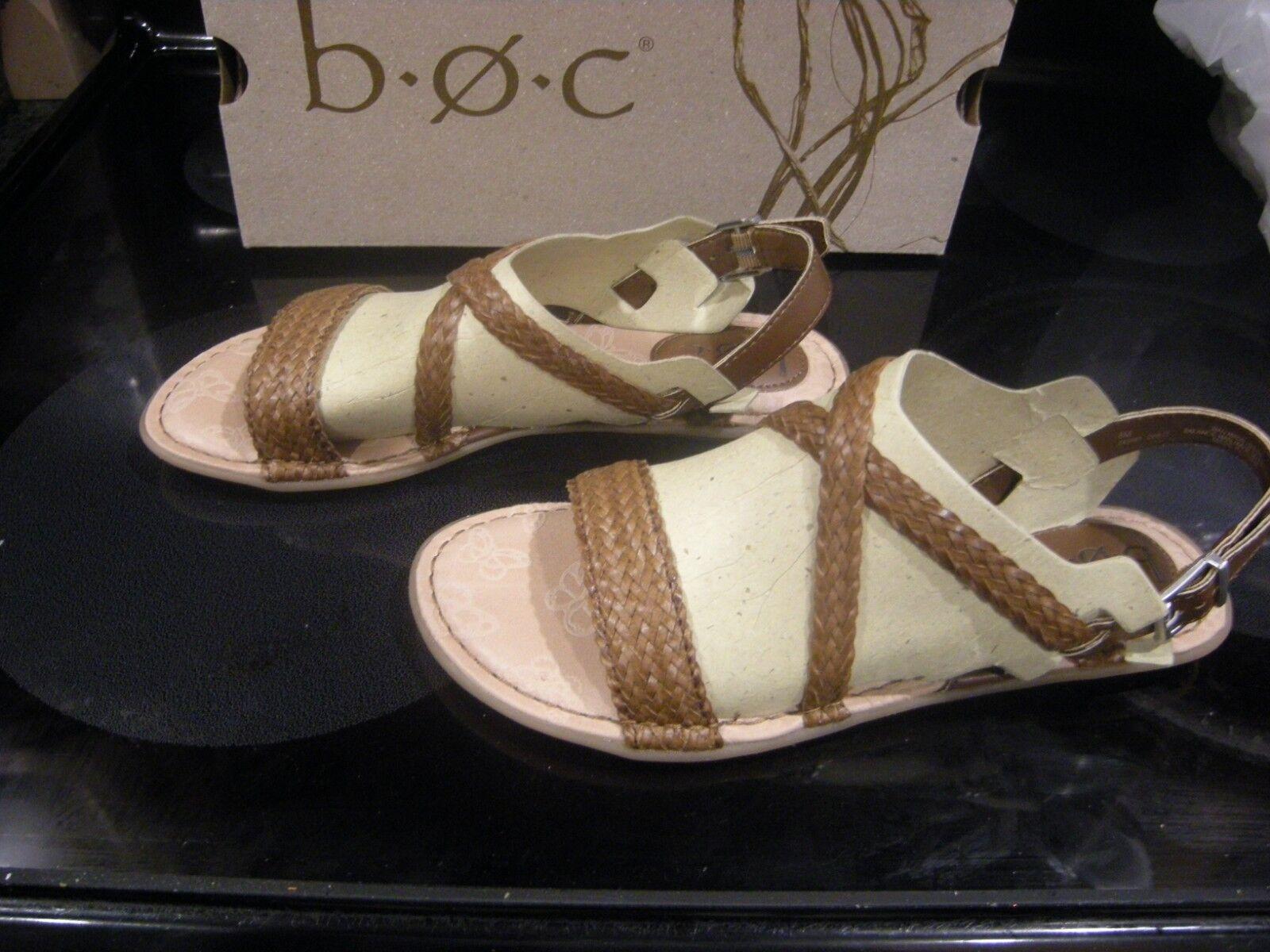 Brand New Womens Light Brown Born Dena Sandals, Size 7 M