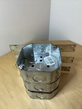 3 New 3 12 Inch Octagon Metal Steel Junction Electrical Box Usa New Old Stock