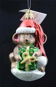"Vintage Radko ""Mouse Wrap"" Glass Ornament Christmas 1998 ..."