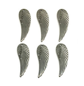 hypoallergenic 304 stainless steel angel wings charms 31mm