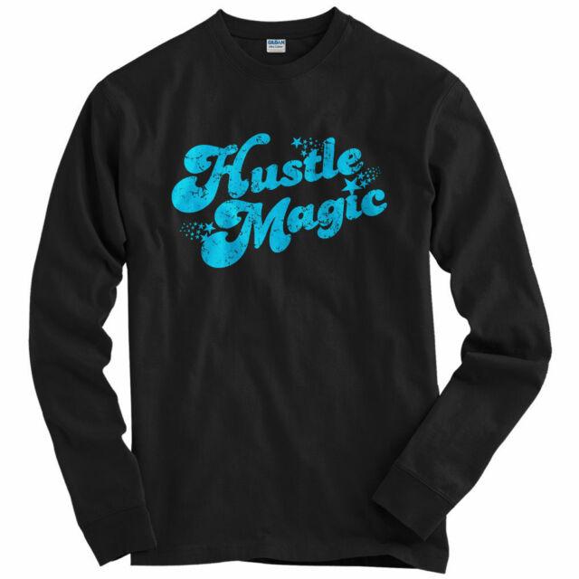 Hustle Magic Script Women/'s Long Sleeve T-shirt LS S-2X Hustler Hip-Hop Rap