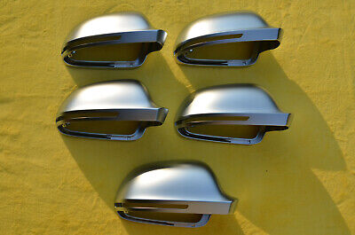 S LINE STYLE SILVER MIRROR COVER MATT CHROME FOR AUDI A4 S4 B8 8K 2008-2009 RS