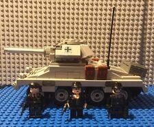 Custom Lego WW2 German WW2 SDKfc 234-1 Puma with Waffen SS Crew