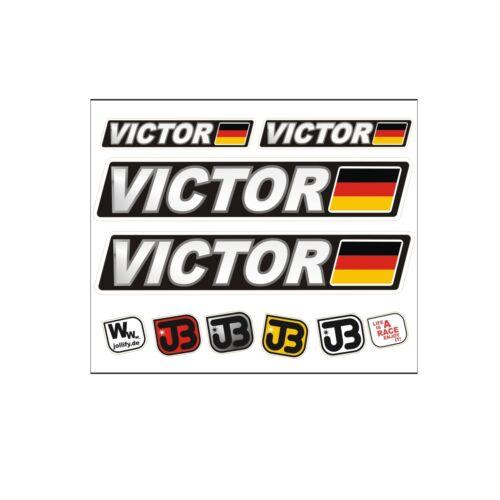 Victor voiture vélo moto kart Casque fahrername autocollant sticker drapeau