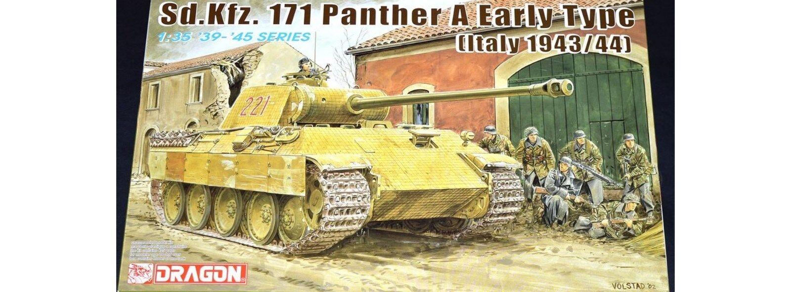 KIT DRAGON 1 35 CARRO ARMATO Sd.kfz.171  PANTHER A EARLY TYPE (ITALIA)  ART.6160