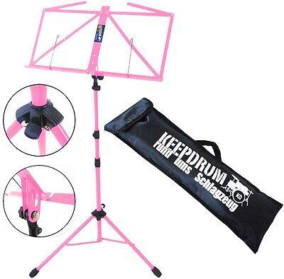 Keepdrum Mus3pk Notenstaender Pink Notenständer Musikinstrumente Tasche Einen Effekt In Richtung Klare Sicht Erzeugen