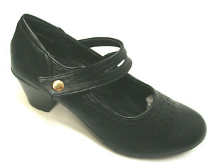 Mary-Jane-Edwardian-flapper-style-womens-shoes-man-made-materials