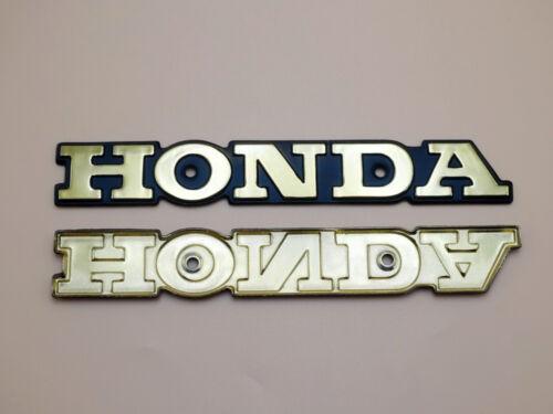 2x Super Sport CB CB550//650//750 CBX Gold Metal Emblem Oil Tank Badge for Honda