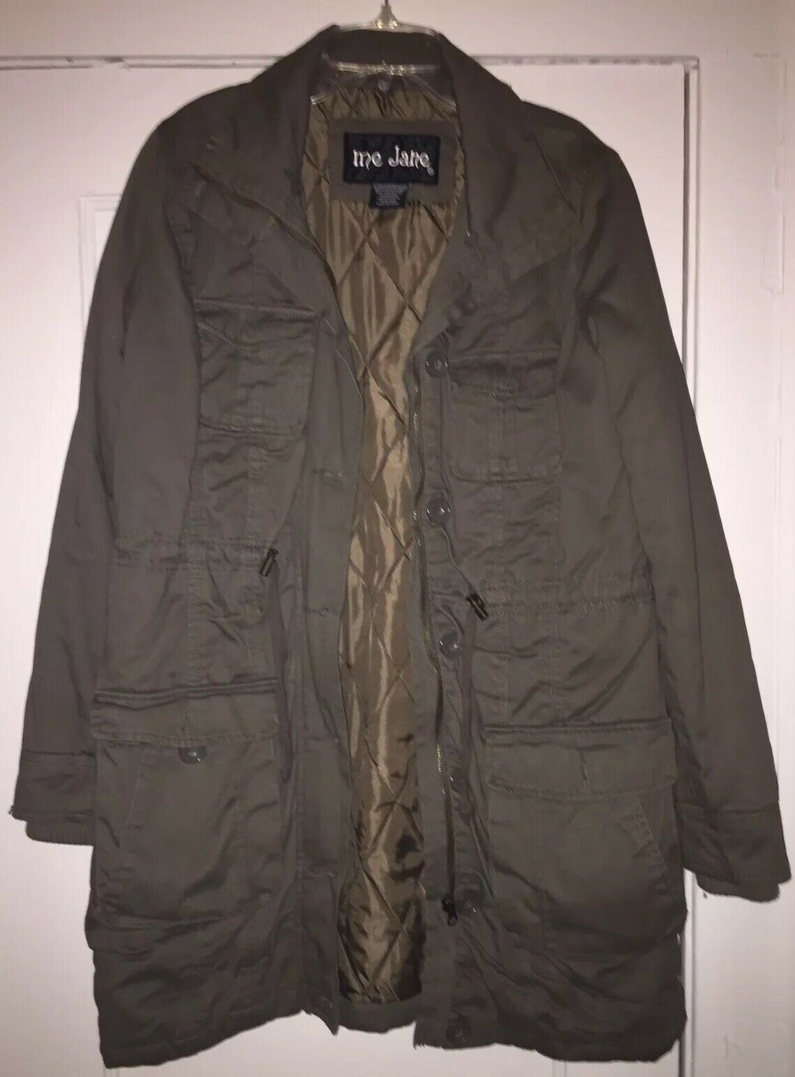 Me Jane Olive Green Military Trench Coat/Jacket S… - image 8