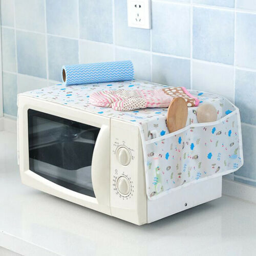 Waterproof Microwave Oven Covers With 2 Pouches Cute Dustproof Kitchen Tools Q