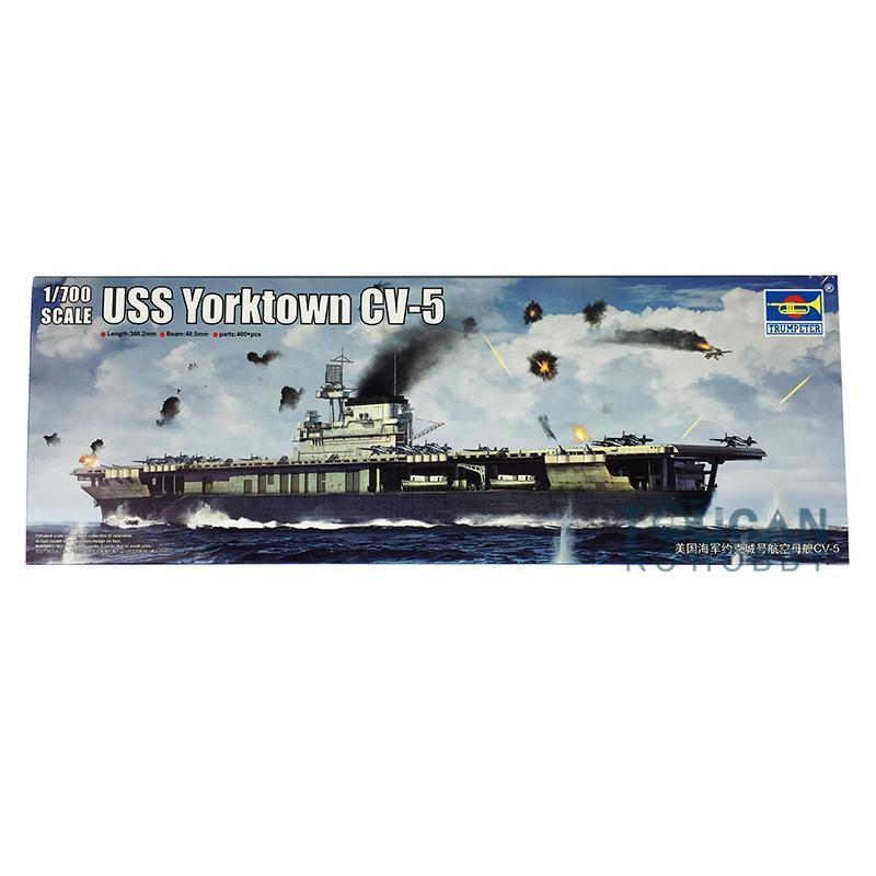 Trumpeter 06707 1 700 USN Yorktown CV-5 Aircraft Carrier Plastic Model Warship