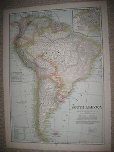 Huge folio size antique 1930 south america map panama argentina image is loading huge folio size antique 1930 south america map gumiabroncs Gallery