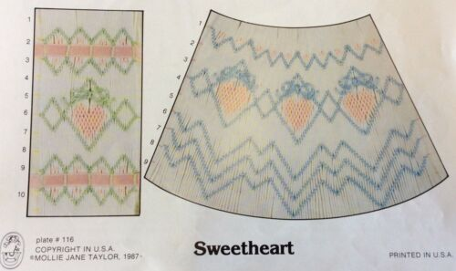 MOLLIE JANE TAYLOR SMOCKING PLATE #116 SWEETHEART