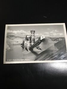 Details about BU563 RPPC Alaska Gold Mining GOLD dredge AK Real Photo