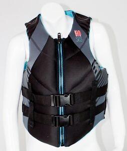NEW-70-Womens-HO-Pursuit-Vest-Water-Ski-Life-Jacket-Ladies-Black-Teal