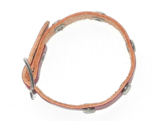 15cm lang Original Steiff Zubehör Leder Halsband rot ca
