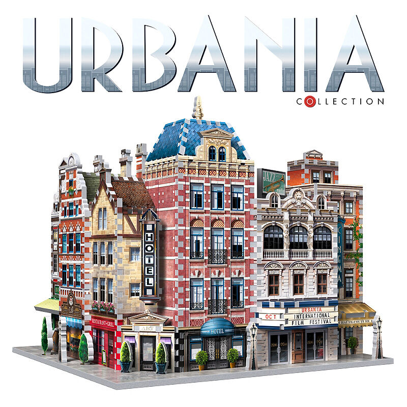 3d Puzzle-URBANIA Collection a - 3er Set, un totale di 880 parti, Wrebbit