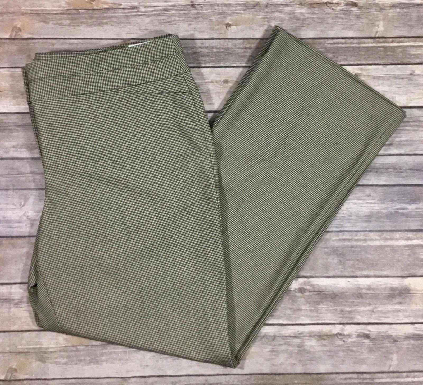 Ann Taylor LOFT NWT damen Original Straight Leg Houndstooth Dress Pants 16 E29