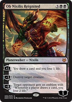 1 PreCon PLAYED FOIL Ob Nixilis Reignited Black Duel Decks Nissa vs Ob Nixilis