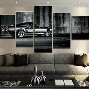 Image Is Loading 5Pcs Ford Mustang Eleanor Car Art Wall Modern