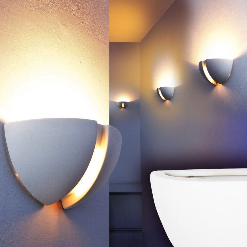 Wandleuchte Zimmer Wandlampe Wandstrahler Leuchte Flurlampe überstreichbar Gips | Marke