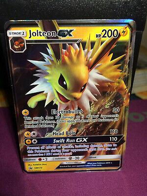 SM Black Star SM173 Jolteon GX Standard Size Pokemon Promo