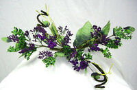 Purple Swag Berry Primitive Silk Flowers Roses Arch Centerpieces Wedding