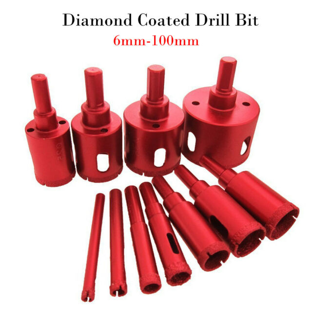 30mm Diamond Tipped Coated Hole Saw Core Drill Bits Glass Tile Marble Granite