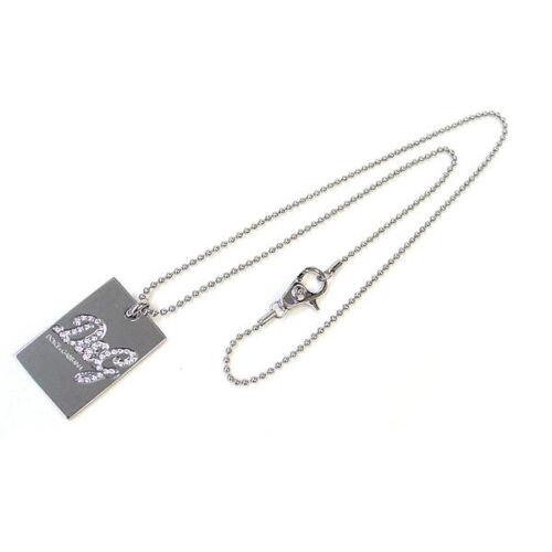 D /& g Dolce /& Gabbana dj0704 Proud señora Dog Tag cadena Collar de acero inoxidable plata