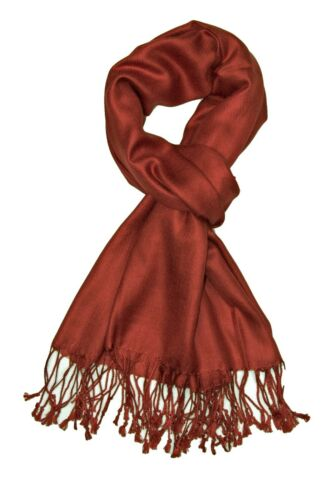 Handcrafted Soft Pashmina Shawl Wrap Scarf in Solid Colors Factory Clearance