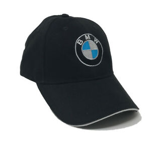 1de05d47198 Image is loading BMW-Logo-Embroidered-6-Panel-Brushed-Cotton-Baseball-